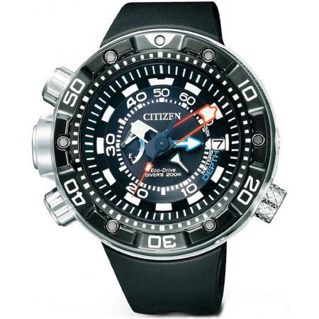 CITIZEN Promaster Aqualand Diver Eco-Drive, Taucheruhr Tiefenmesser_837