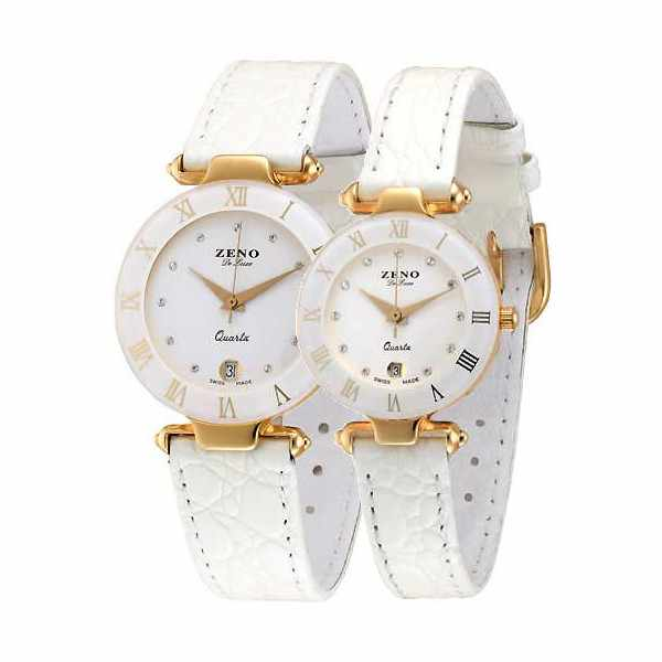 ZENO, CL Quartz Uhr, weiss 33mm_838