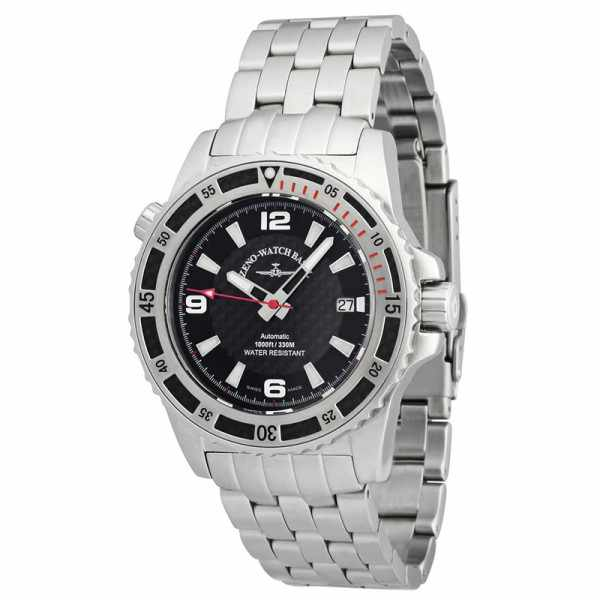 ZENO-WATCH BASEL, Professional Diver XL, Automatik, Edelstahl red_847