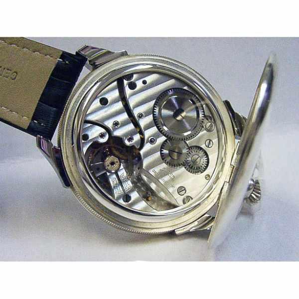 ZENO-WATCH BASEL, Retro Nidor, Silberuhr mit altem 8-Tage-Uhrwerk_8610