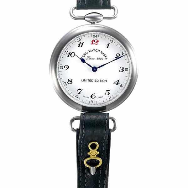 ZENO-WATCH BASEL, Retro Jubiläumsuhr mit altem Taschenuhrwerk_862