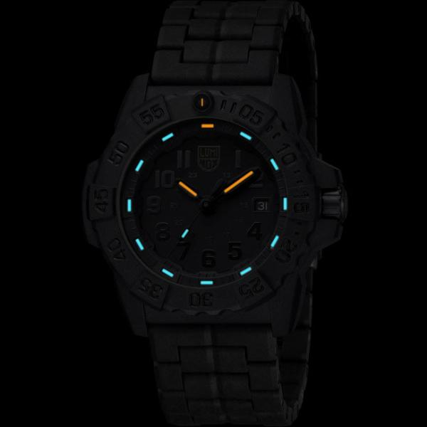 LUMINOX, Sea, Navy Seals EVO, Blackout schwarz, PU-Gliederarmband_8788