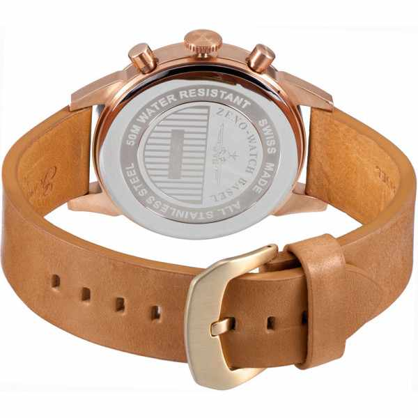 ZENO-WATCH BASEL, Vintage Line Chronograph, Quartzuhr vergoldet_906