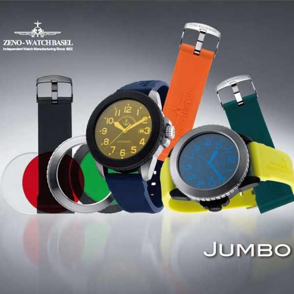 ZENO-WATCH BASEL, Jumbo, Automatik, Set mit Bänder+Gläser, schwarz_9335
