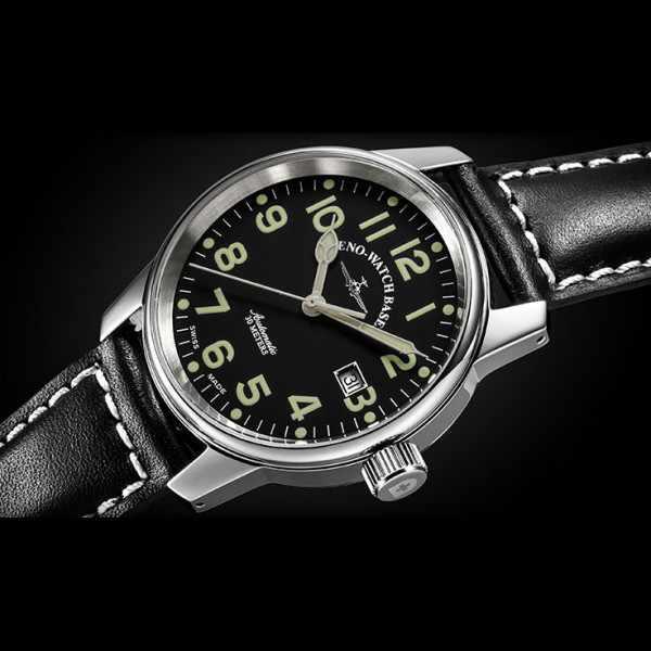 ZENO-WATCH BASEL, Pilot Classic, Automatik Fliegeruhr_9375