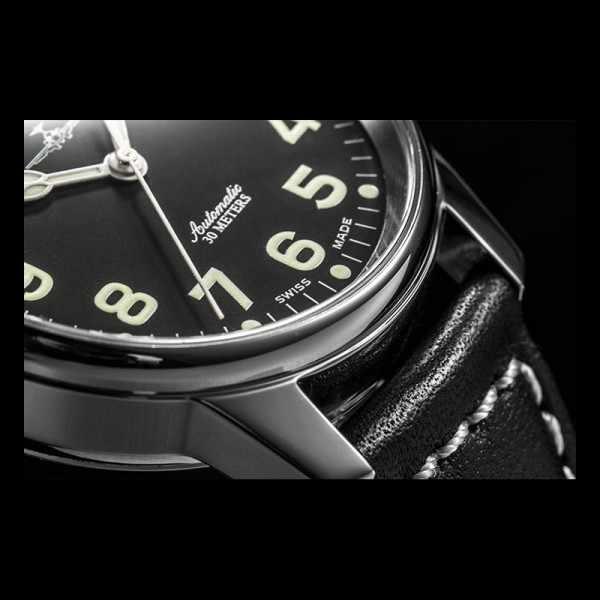 ZENO-WATCH BASEL, Pilot Classic, Automatik Fliegeruhr_9379