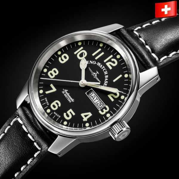 ZENO-WATCH BASEL, Pilot Classic, Automatik Fliegeruhr DD_9393