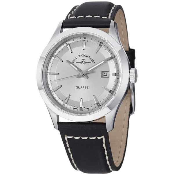 ZENO-WATCH BASEL, Retro Gentlemen, Quartz Uhr, silber_9414