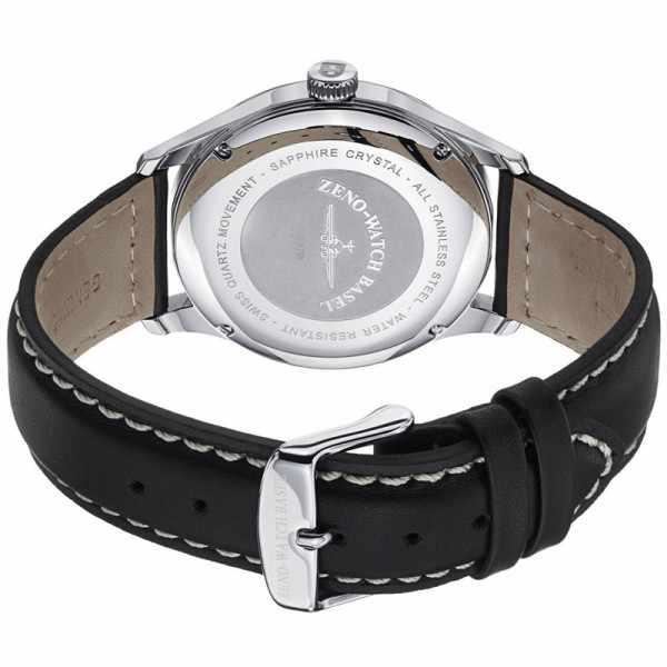 ZENO-WATCH BASEL, Retro Gentlemen, Quartz Uhr, grau_9415