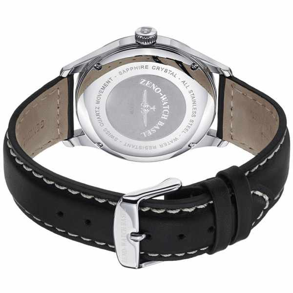 ZENO-WATCH BASEL, Retro Gentlemen, Quartz Uhr, silber_9415