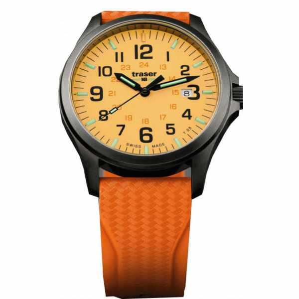 TRASER P67 Officer Pro GunMetal, Lumiuhr orange_9571