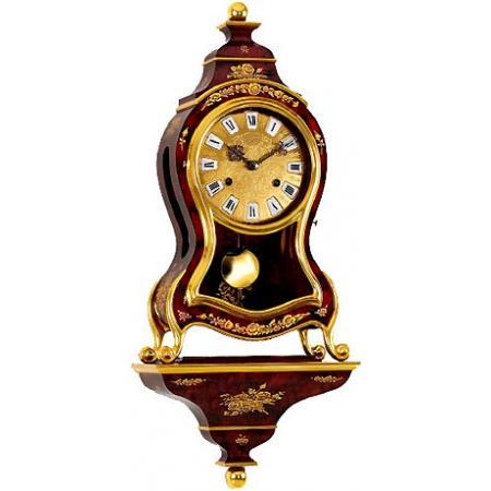 LE CASTEL, Neuenburger Pendule, Marie-Antoinette, 58cm, rot marmoriert_9595