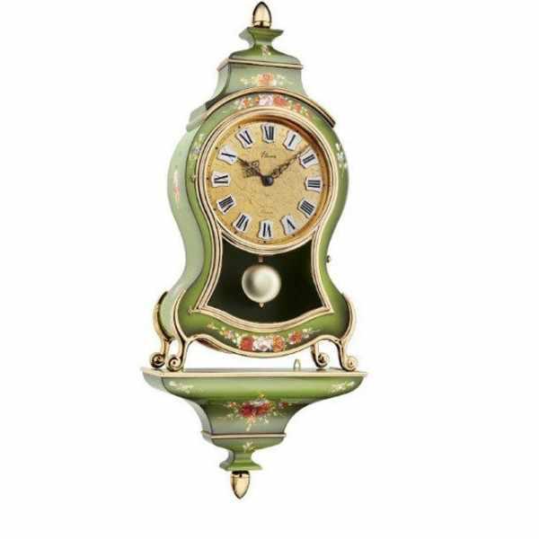 ELUXA, Neuenburger Pendule, Louis XVI 58cm Quartz, grün_9599