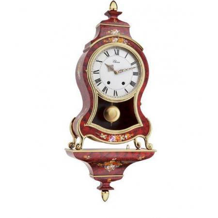 ELUXA Neuenburger Pendule, Louis XVI Mechanisch, rot geflammt