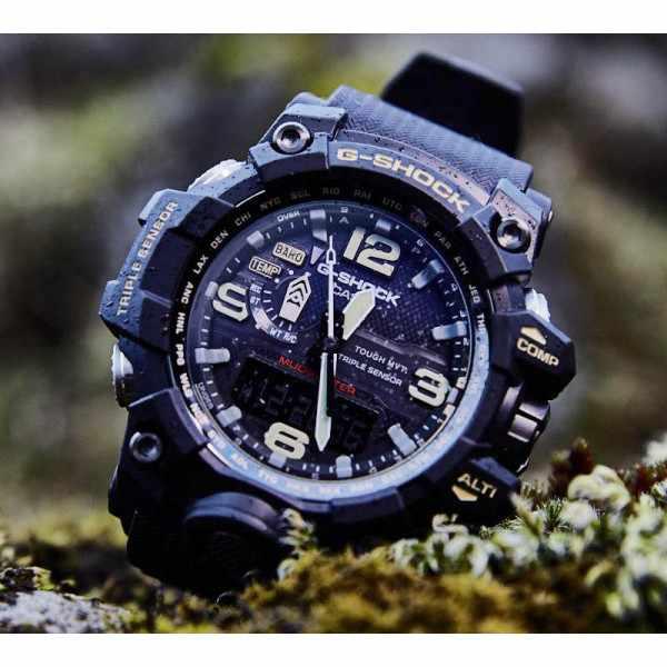 G-SHOCK, Mudmaster, Solar Funkuhr, Kompass-Alti-Baro-Thermo schwarz_9604
