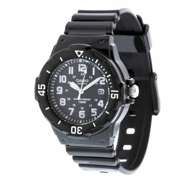 CASIO, Analog, Monster black, kleine Quartzuhr, schwarz_9775