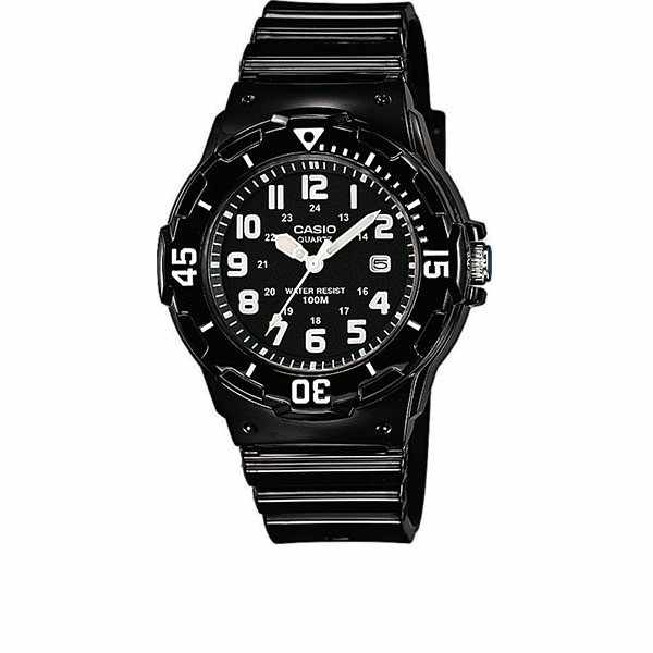 CASIO, Analog, Monster black, kleine Quartzuhr, schwarz_9776