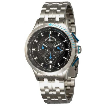 ZENO-WATCH BASEL, H3 Fashion Chrono, Lumi Quartzuhr, blau