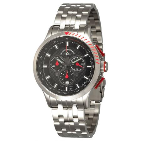 ZENO-WATCH BASEL, H3 Fashion Chrono, Lumi Quartzuhr, rot