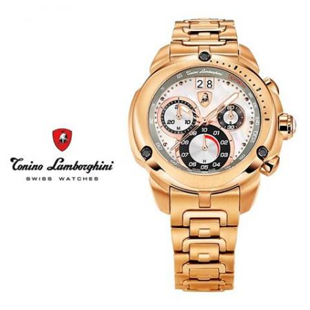 LAMBORGHINI,Chronograph, rosé vergoldet_9796