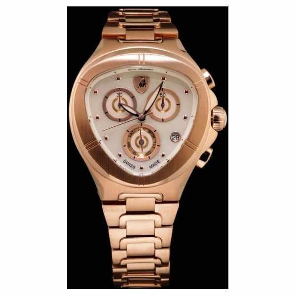 LAMBORGHINI Chronograph, Edelstahl rosé vergoldet_9799