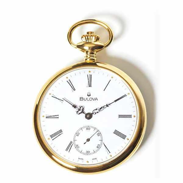 Klassik Taschenuhr Handaufzug, Bulova Louis XVI vergoldet_9839