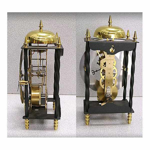 HERMLE Galahad II, mechanische Tischuhr Retro Skelett_996