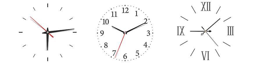 Horloges murales - Le temps toujours affiché à l'heure