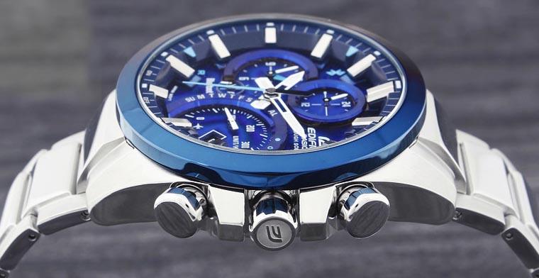 Blaue Casio Uhr