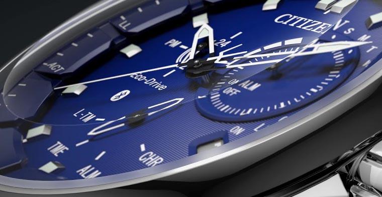 Blaue Citizen Bluetooth Uhr