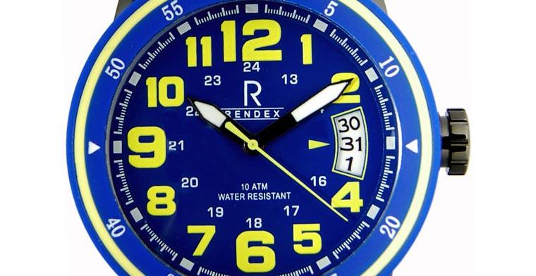 Blaue Rendex Uhr