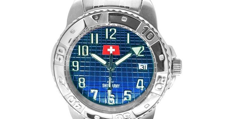 Blaue Swiss Army Uhr