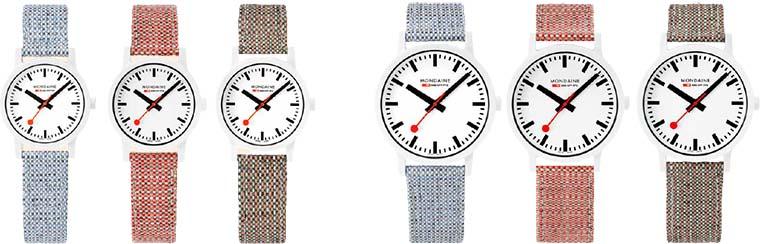 Alle 6 weissen Essence Uhren von Mondaine