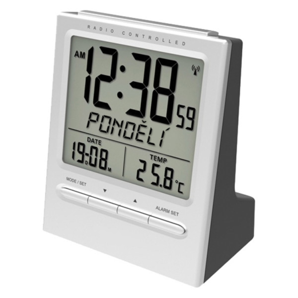 Funkwecker mit Thermometer
