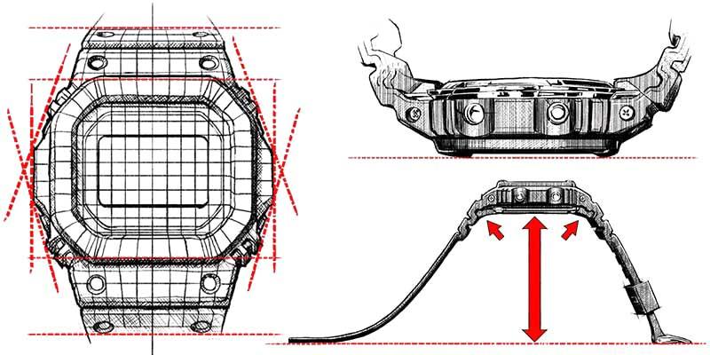 G-Shock Uhren Konstruktion