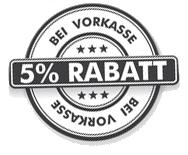 5 Prozent Vorkasse Rabatt