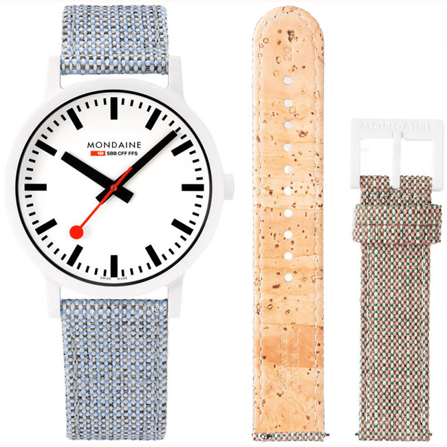 Vegane Weisse Uhren von Mondaine