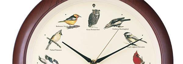 Wanduhr Vogelstimmen