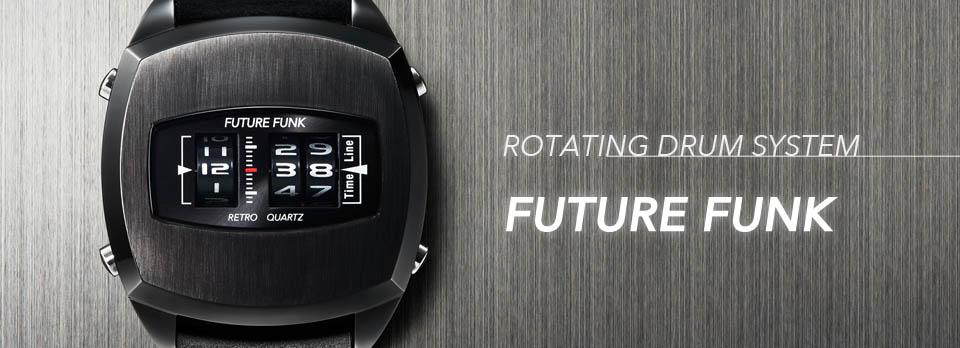 Future Funk Digitaluhr schwarz